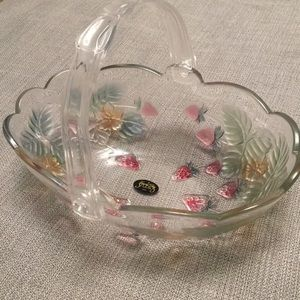 Crystal Clear Studios Glass Fruit Serving Bowl